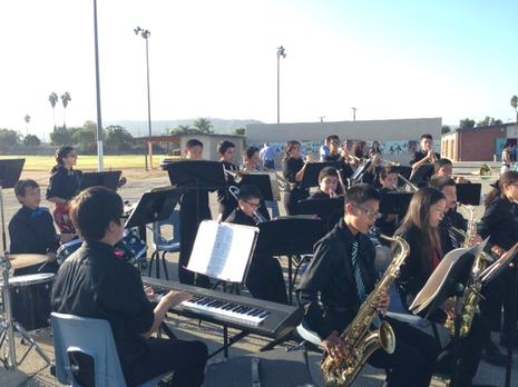 Jazz Band performing at our Playground Ribbon Cutting